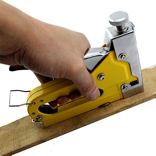 Nail Staple Gun For Wood Furniture With1200 Nails Stapler Works With Any Backing Material Light Weight Design Comfor