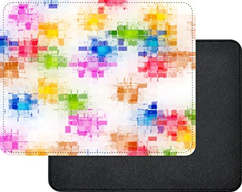 Pastel Scratch Pad - Rikki Knight Pastel Scratch Pattern Premium Quality Faux Leather Mouse Pad