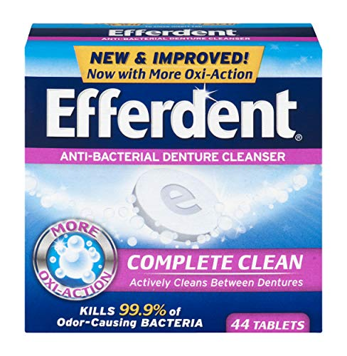 Efferdent Anti-Bacterial Denture Cleansers | 44 Tablets | Actively Cleans Between ()