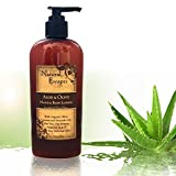 Best Body Lotion for Dry Skin Natural Escapes Lavender Aloe & Olive Hand & Body Lotion! Rich Moisturizer for Dry Skin! Olive Oil, Coconut Oil & Avocado Oil Leave Skin Soft & Smooth! Organic Skin Care for Eczema, Psoriasis & More!