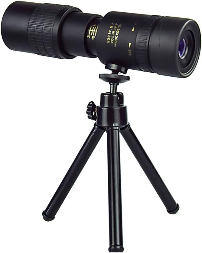10-300 * 40 for Beach Travel Birdwatching Camping Telescopic Zoom Lens High Definition Monocular 4k 10-300 X 40 Mm Super Telephoto Zoom Telescope with Tripod and Clip