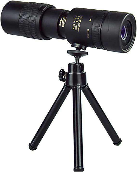 T/élescope monoculaire Starscope 4 K 10-300 x 40 mm HD FMC avec support pour smartphone et tr/épied pour lobservation des oiseaux le camping le match la randonn/ée