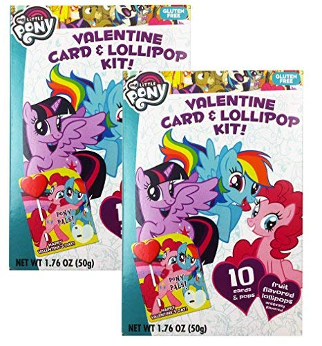 My Little Pony Valentine Cards For School Classroom Kit With Lollipops For 20 Kids