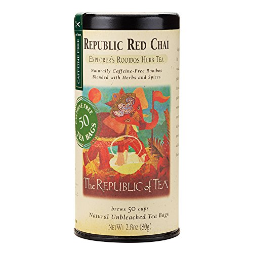 Chai Tea Red (The Republic Of Tea Republic Red Chai Red Rooibos Herbal Tea, 36 Tea Bag Tin)