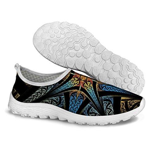 Pour U Conceptions Élégant Motif Floral Décontracté Mesh Confortable Chaussures De Course À Pied Bleu 1