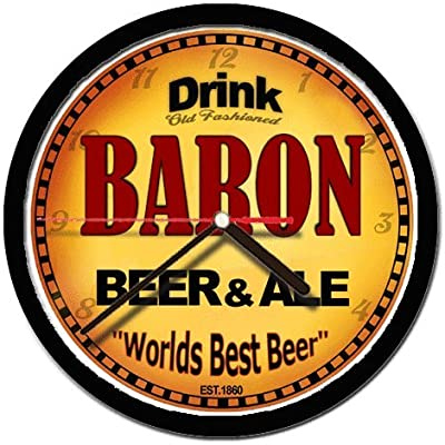 Amazon Com Baron Beer And Ale Cerveza Wall Clock Home