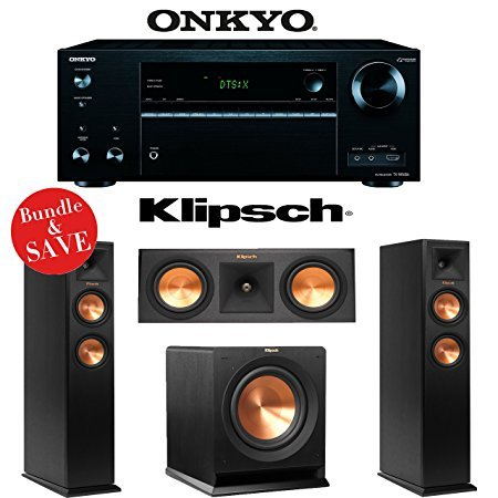 Onkyo TX-NR656 7.2 Channel Network A/V Receiver + Klipsch RP-250F + Klipsch RP-250C + Klipsch R-110SW - 3.1 Reference Premiere Home Theater Package by Onkyo