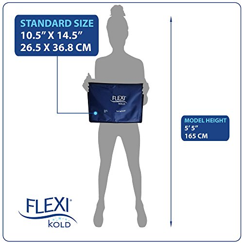 FlexiKold Gel Ice Pack (Standard Large: 10.5'' x 14.5'') - One (1) Reusable Cold Therapy Pack (For pain and injuries, wrap around Knee, Shoulder, Foot, Back, Ankle, Neck, Hip, Wrist) - 6300-COLD by FlexiKold (Image #5)