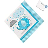 Bargain World Paper Umbrellaphants Blue Luncheon Napkins (With Sticky Notes)