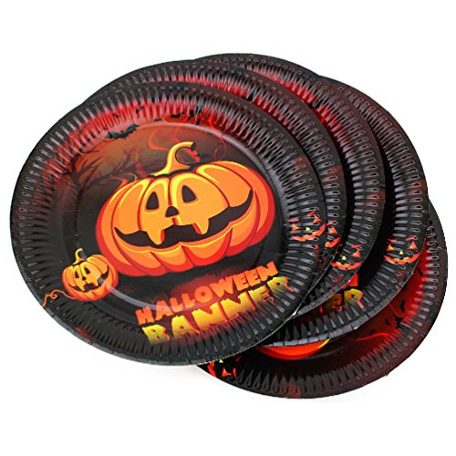 10 Pk Halloween Spooktacular Festive Party Celebration Disposable Paper (Floater Plate)