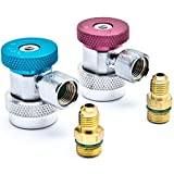 Biltek Air Condition Manifold Refrigerant Quick Coupler Adapters High & Low R134A Adjustable