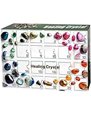 Healing Crystal Advent Calendar,rock, Fossil & Mineral Kit,with 24 Gemstones, 2021 Christmas Advent Calendar Toy for Kids,apply to Christmas Home Garden Decoration, Surprise Gift Box.
