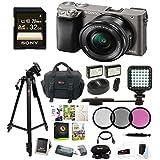 Sony Alpha a6000 Mirrorless Camera w/ 16-50mm Lens & 32GB SD Card Bundle