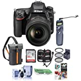 Nikon D750 FX-Format DSLR Camera with AF-S NIKKOR 24-120mm f/4G ED VR Lens - Bundle with 32GB SDHC, Camera Bag, 77mm Filter Kit, Cleaning Kit, Card Reader, Card Case, Remote Shutter Trigger, Software