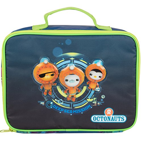 Octonauts Insulated Lunch Sleeve - Reusable Heavy Duty Tote Bag w Mesh Pocket -