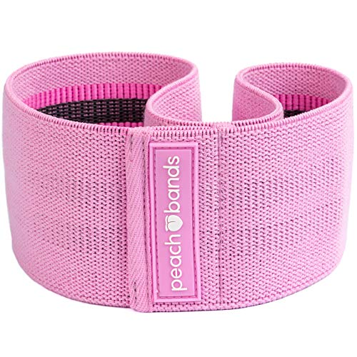 - Peach Bands | Premium Pink Resistance Hip Band with Carrying Bag | Thick and Non-Slip Design