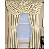 Cheap Elrene Versailles Pleated Blackout Curtain Panel Ivory 52″ W X 95″ L 95 Inches