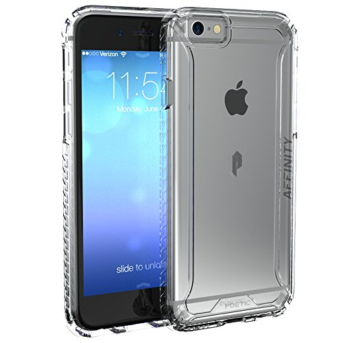 iPhone 6S Case, POETIC Affinity Series [Premium Thin]/No Bulk/Protection where its needed/Clear/Dual Material Protective Bumper Case for Apple iPhone 6S / iPhone 6 (Frosted Clear/Clear)