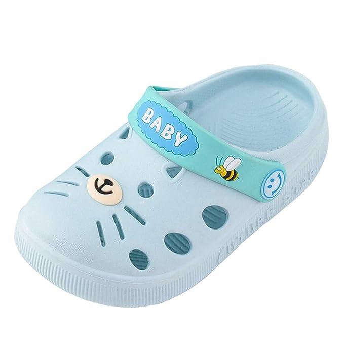 LILIHOT Kleinkind Baby Kinder Mädchen Jungen Hausschuhe Cartoon Katze Boden Schuhe Sandalen Hausschuhe Flip Flops Sommer Mädchen Strandschuhe Elegante