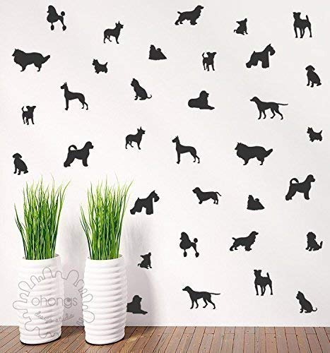 Dog wall decal/doggie Decal / 36 dogs Pattern Wall Decal/Kids Room Decal/Nursery decal/Home Decor/gift