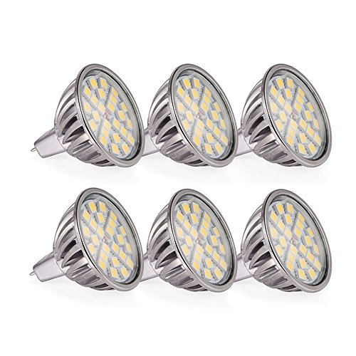 12 Led Spot Bulb (Goodland's LED Spotlight - SMD5050 Aluminum LED Bulb LED Spot Light - 7W(MR16 12V - 6Pack, Daylight -)