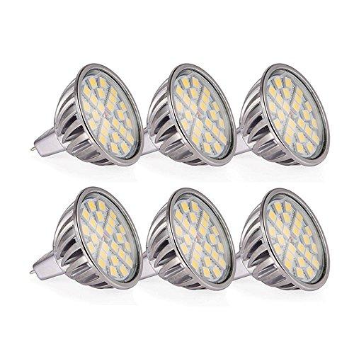 12 Led Spot Bulb (Goodland's LED Spotlight - SMD5050 Aluminum LED Bulb LED Spot Light - 7W(MR16 12V - 6Pack, Daylight -)