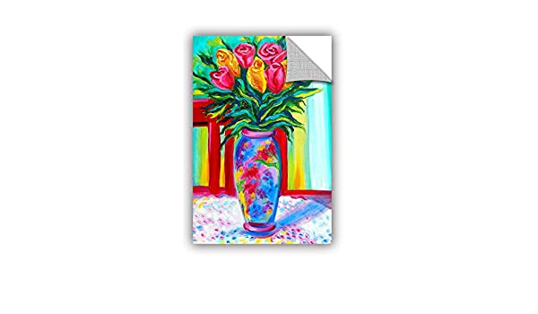 24 by 36 ArtWall Susi Francos I Love This Vase Art Appeelz Removable Graphic Wall Art
