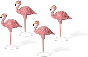 Department 56 Village Flamingos Accessory Figurines (Set of 4)