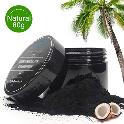 Activated Charcoal Teeth Whitening Powder- 100% Natural Organic Tooth Whitener Powder for Stains, Tartar, Yellow Teeth and Bad Breath- Safe for Enamel, Sensitive Teeth-60g (teeth whitening powder 60g)