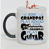 Cool Grandpas Play Guitar Cup, Some Grandpas Play Bingo Change color mug (Color Changing Mug 11oz)