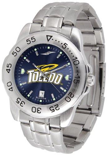 Mens Toledo Dress Watch - SunTime Toledo Rockets Sport Steel Band