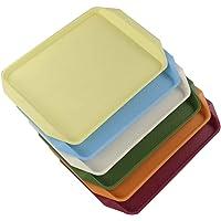 Vareone Bandeja de Servir de Plástico Rectangular, Azul