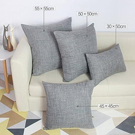 da salotto Coliang Federa per cuscini di alta qualit/ in cotone 30 /x 50 /cm per divani a schienale alto Flax rettangolare con imbottitura 30x50CM Brown federa per cuscini / /verde