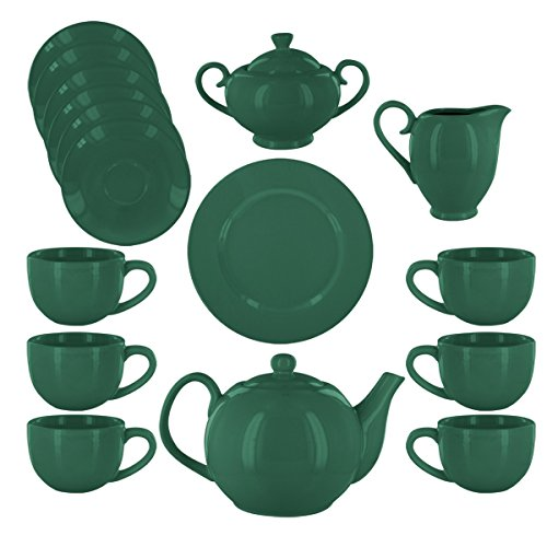 Chloe Deluxe Porcelain Tea Set - Green ()