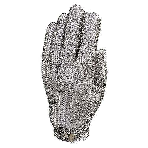 Anself Stainless Steel Mesh Gloves, Cut Resistant Gloves for Kitchen Butcher Working Safety (Small) (Glove Work Impregnated)