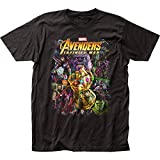 Impact Avengers Infinity War Group Shot Adult T-Shirt - Black (Large)
