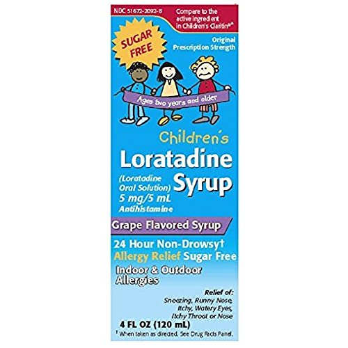 Loratadine Syrup (Taro Loratadine Syrup Children's 4 oz (Pack of 5))