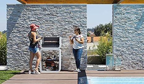 Barbacoa de Obra , diseño orgánico, funcionalidad y facilidad de montaje, De hormigón bruto hidrófugo: Amazon.es: Hogar