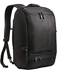 "Professional Slim Laptop Backpack for Travel, School & Business - Fits 17"" Laptop - Anti-Theft - (Solid Black)"
