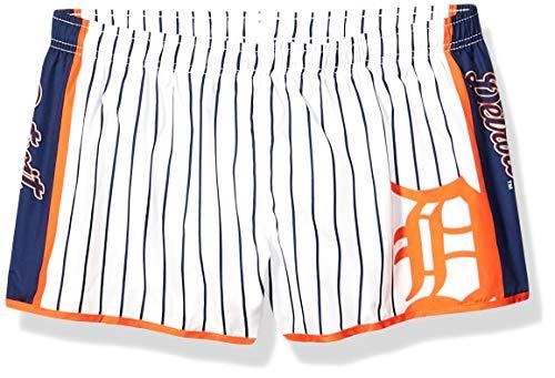 (FOCO MLB Detroit Tigers Womens Womens Pinstripe Polyester SHORTWOMENS Pinstripe Polyester Short, Team Color,)