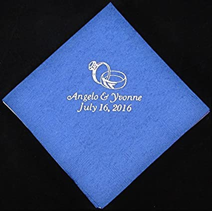 amazon com 50 personalized beverage napkins wedding favors custom
