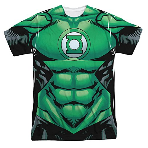 [Green Lantern- Uniform Costume Tee T-Shirt Size L] (Kyle Rayner Costumes)