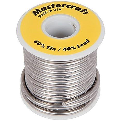 MasterCraft 60/40 Soldadura - 1 Lb., Modelo: 6040, herramientas y Ferretería: Amazon.es: Jardín