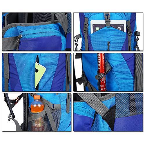 Arrampicata Capacità Escursione Parapioggia Campeggio Alpinismo 80l Con Outdoor Grande Da Trekking Per Blu Zaino Impermeabile Viaggi Verde Bozevon X6wzP0q