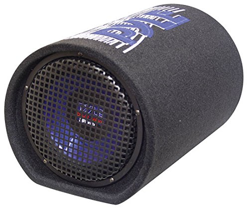 PYLE PLTB10 10-Inch 500 Watt Carpeted Subwoofer Tube (Red Cone Pyle Sub compare prices)