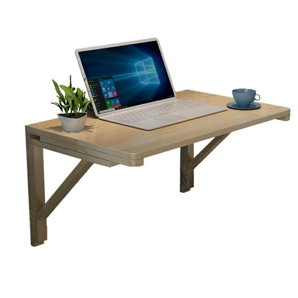 PENGFEI 折り畳みテーブルウォールマウント無垢材の折り畳み コンピューターデスク ウォールマウントテーブル オフィス棚 スペースを節約し、 7サイズ (色 : 木の色, サイズ さいず : 60x45CM) B07GXSKG8B 60x45CM|木の色 木の色 60x45CM