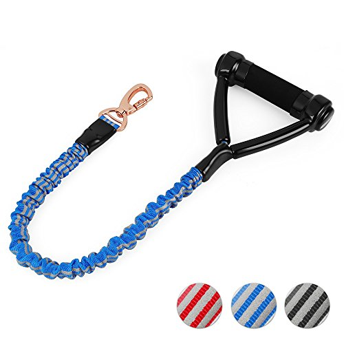 Dogness Shock Absorbing Dog Leash  Traffic Control Handle Available  Ultra Sturdy With Elastic Bungee Rope  2 Handle Sizes For Male Female Walking Training Medium Large Dogs  10  25  Long And 3 Colors