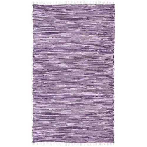 Complex Chenille Flat Weave Rug, 5-Feet by 8-Feet, Purple