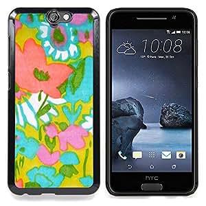 """For HTC One A9 Case , Patrón de Arte Textil madre de la mamá de Verano"""" - Diseño Patrón Teléfono Caso Cubierta Case Bumper Duro Protección Case Cover Funda"""