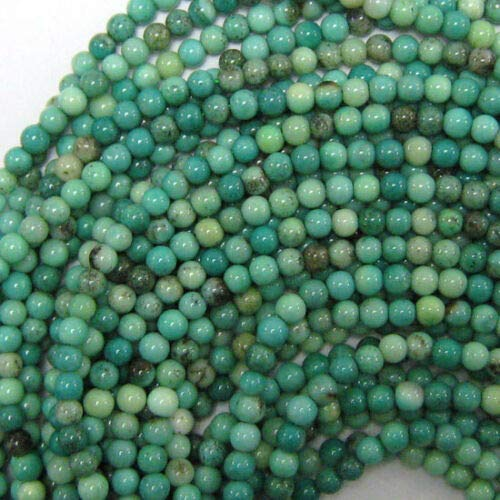 3mm Green Chrysoprase Round Beads 16